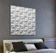 XL LEINWAND BILD 100x100x5 3D GESTEIN-DESIGN WANDBILD MODERN ART GRAU WEIß