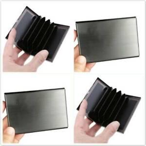 Kind Shooting Bank Card Holder Stainless Steel Antimagnetic Metal Card Holder BS
