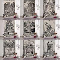 Tarot Card Tapestry Blanket Wall Hanging Astrology Divination Bedspread Wall Art