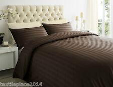 250 Thread Count Duvet Cover Set 100% Egyptian Cotton Satin Stripe All Sizes