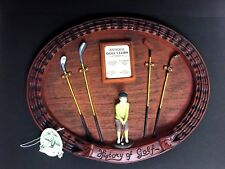 History of Golf Wall Plaque Antique Golf Clubs in 3D Wall Art with Tag