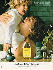 PUBLICITE ADVERTISING 114  1981  GUY LAROCHE eau de toilette pour homme DRAKKAR