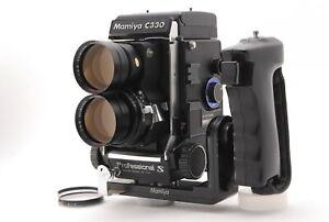 *NEAR MINT* MAMYA C330 Pro S w/Sekor Super 180mm F/4.5 Lens ,Grip From Japan