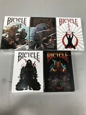 Amazing NEW 5 Deck Set Of Bicycle Feudal Playing Cards! Sold Out Decks Ninja