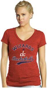 NBA Washington Wizards John Wall #2 Women's Triblend V-Neck Tee, Red, Large