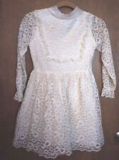 VTG. GIRL'S LACE DRESS: SIZE 12