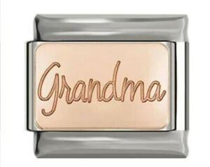 GRANDMA best in the world- Rose Gold-Charm Fits Nomination- in Gift Pouch -RG100