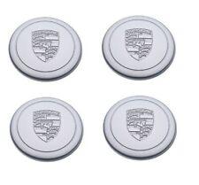 Set Silver New Genuine Porsche Fuch Fuchs Cookie Cutters Wheel Metal Centre Caps