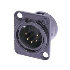 Neutrik NC5MD-L-BAG-1  5 Pin Male XLR DMX Lighting Jack - Black/Silver 1085