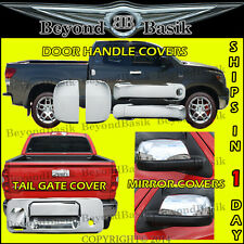 14-17 TUNDRA Double Cab Chrome Door Handle Covers +Tailgate Cover + Mirror Cover