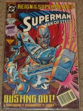 Superman, The Man of Steel #22 (DC Comics - '93, Newsstand Ed.) [VF+]