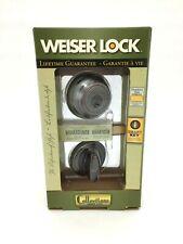Weiser Lock Single Cylinder Deadbolt with Venetian Bronze (IJ45)