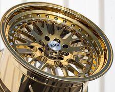 Gold Platinum 17X9 +20 Esm 007 4X100 Wheels Fit Miata Integra Mini Copper S Jcw