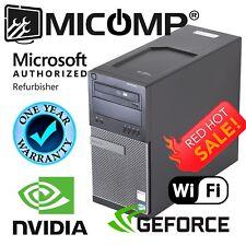 Fast Dell Gaming Computer PC Quad Core i7 8Gb 1Tb Nvidia GT 1030 Win 10 HDMI DVI