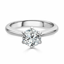 2.00 Ct Brilliant Cut Diamond Solitaire Engagement Ring Solid 14k White Gold