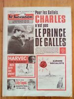 LE HERISSON n°1836 - 1981 - Humour - Prince Charles - Lily Fayol