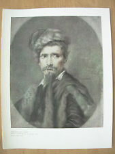 VINTAGE 1912 PRINT - PORTRAIT OF A MAN By C.HUTIN