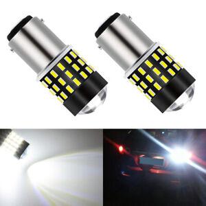 JDM ASTAR 1157 BAY15D 7528 White LED Turn Signal Parking Brake Tail Lights Bulbs