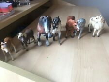 Schleich and papo bundle of 14 miniature toy horses RARE 2000'S EDITION