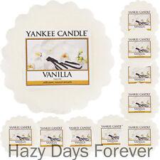 10 Torte di cera Yankee Candle Vanilla Plain si scioglie tartlets