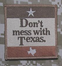 DON'T MESS WITH TEXAS LONE STAR STATE USA ARMY MORALE BADGE DESERT VELCRO PATCH