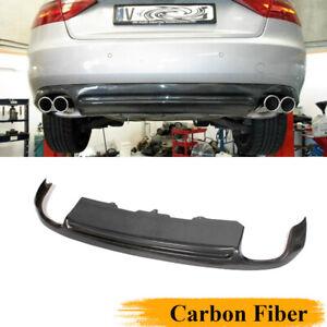 Carbon Fiber Rear Diffuser Bumper Lip Fit for Audi A5 Coupe Non-Sline 2008-2011