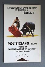 R&L Postcard: Bamforth 131 Bullfighter Bull Fighting Political Humour Cow-Pat
