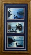 "Les Kouba Loon Trilogy Set of three Prints Framed  14"" x 24"""