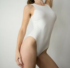 Forever21 white stretch bodysuit sexy size S