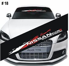 Reflective Nissan nismo Windshield Banner Decal Car Sticker