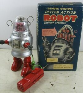 Repro Remote Control Piston Action Robot Battery Operated New in Box