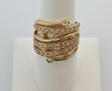LeVian Strawberry Gold and Diamond Ring, 1.00CTW, size 7.75