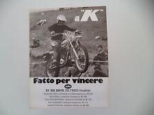 advertising Pubblicità 1977 MOTO KTM - 51° SIX DAYS ZELTWEG AUSTRIA