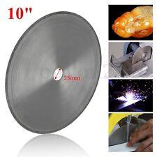 "10"" Diamond Tool Lapidary Rock Saw Blade Cutting Wheel Kit - 25mm Arbor Hole"