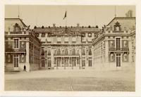 France, Château de Versailles Vintage albumen print.  Tirage albuminé  12x19