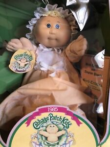 1985 Cabbage Patch Preemie Blonde Blue Eyes Doll - NIB with Papers