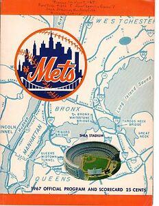 1967 (July 4) Baseball program, San Francisco Giants @ New York Mets, scored