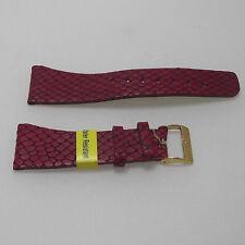 Cinturino pelle Morellato stamp. lucertola color rosso ansa 18 fibbia dorata b26