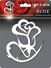 3D Chrome Rose Flower Self Adhesive Emblem 1 Badge/Decal Car Truck Motorcycle RV