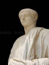 Fotografía Estatua De Mármol Figura Romana Toga Escultura arte cartel impresión bmp10785
