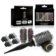 9PCS/Kit Round Tube Barrel Hair Brush Ceramic Comb Nylon Bristles Roller Comb