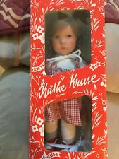 """Doll Kathe Kruse 10"""" in box with wooden tag made in Germany"""