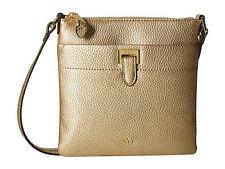 New Ralph Lauren Gold Leaf Carlisle Flat Crossbody Handbag MSRP $88.