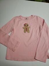 Gymboree Gingerbread cookie pink shirt girls size 8
