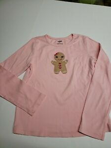 Gymboree Gingerbread cookie pink shirt girls size 8