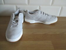 Primark Ladies Girls Grey Trainer Shoe Flat Lace Up Pumps Shoes Size 4 - New
