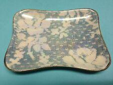 Royal Winton Brocade Blue Trinket Tray Lusterware Chintz China England