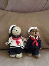 "Boyds Bear SKIPPY B and BROOKE Q JODIBEAR Sailor Nautical Set ~ 6"" Plush"