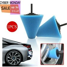 Cone Shaped Polishing Sponge Pads Tool Fits Car Automobile Wheel Hub Parts