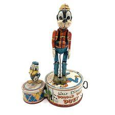 Vintage Marx 1946 Walt Disney Donald Duck & Goofy Duet Wind Up Toy VTG WORKS